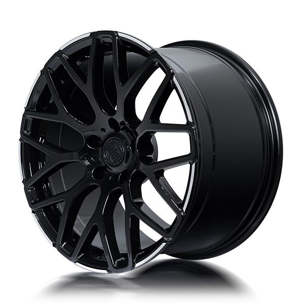 Кованые диски Beneventi R9 в отделке Black Diamond Edge