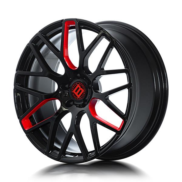 Кованые диски Beneventi R9 в отделке Black Red Star