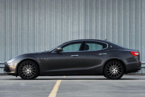 Кованые диски Beneventi V15S black diamond на Maserati Ghibli