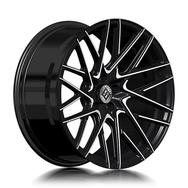 Кованые диски Beneventi RR20 в цвете Black Diamond