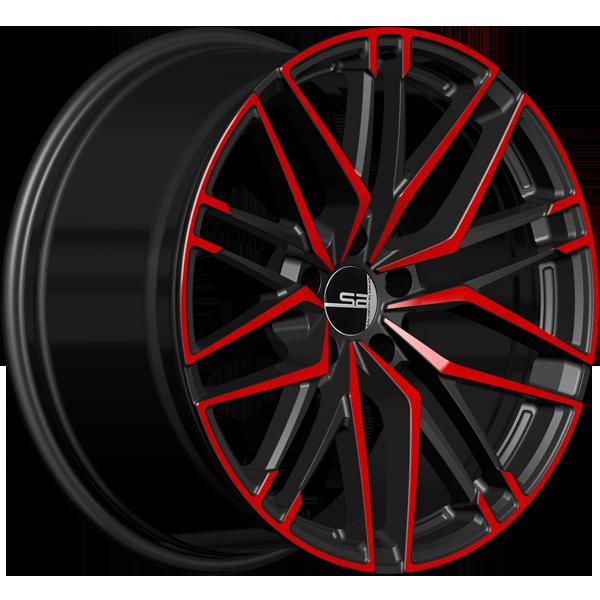 Solomon Alsberg B5 Disco V2 Черный с красным