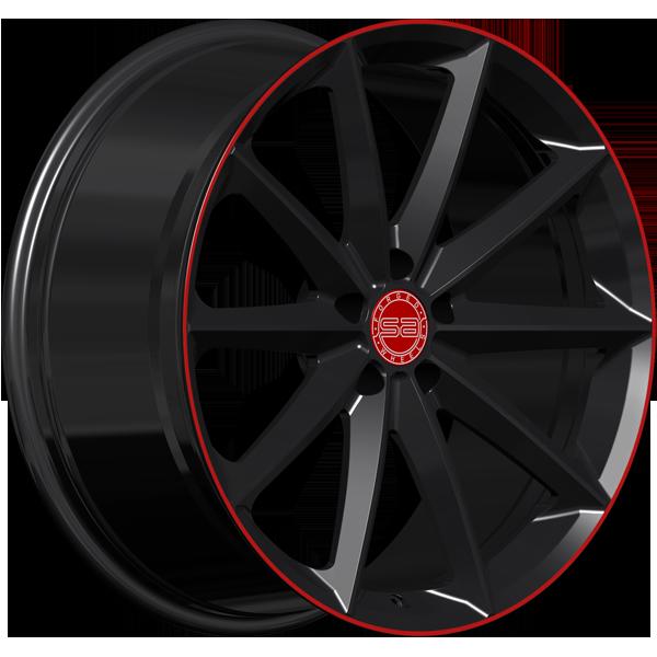 Solomon Alsberg S-1 Pronto Черный с красным