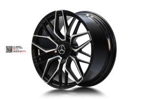 Кованый моноблок Beneventi K10-C в отделке черный глянец с алмазной проточкой для Mercedes-AMG G63