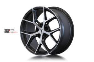 Beneventi K5 V2 в отделке Карбон графит с алмазной проточкой и матовым лаком для Tesla Model S
