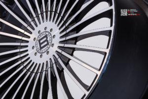 Кованый моноблок Beneventi M7-C в отделке Карбон графит с алмазной проточкой для Porsche Panamera