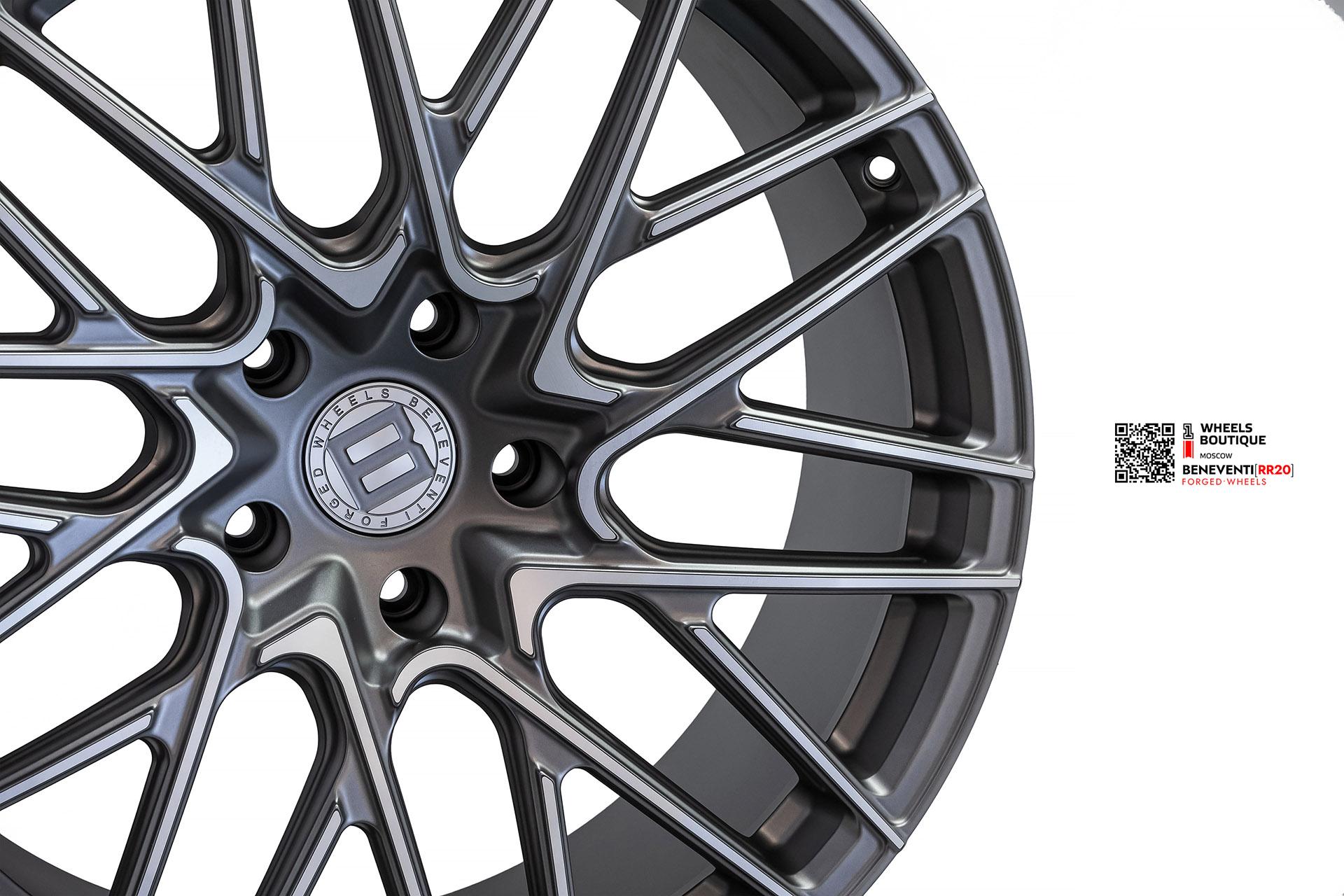 Beneventi RR20 в отделке Графит с алмазной проточкой и сатиновым лаком для Mercedes-Amg G63