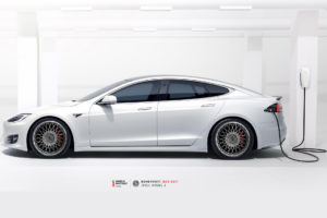 Tesla Model S на кованых дисках Beneventi BCF-201