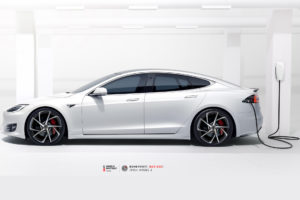 Tesla Model S на кованых дисках Beneventi BCF-53S