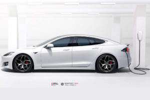 Tesla Model S на кованых дисках Beneventi K5S