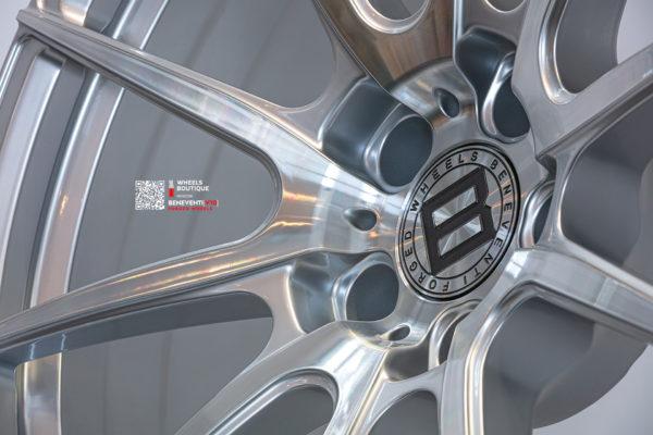 Кованый моноблок Beneventi V10 в отделке Серебристый с алмазной проточкой