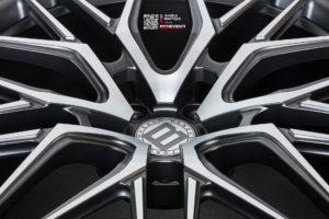 Кованый моноблок Beneventi K10-F в отделке графит сатин с алмазной проточкой для Mercedes-Amg G63