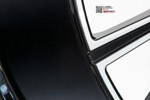 Кованый моноблок Beneventi RR15 V1 в отделке черный глянец с алмазной проточкой для Mercedes GLS