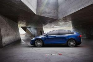 Tesla Model X на кованых дисках Beneventi M7C