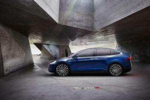 Tesla Model X на кованых дисках Beneventi RR15