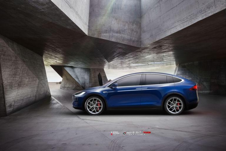 Tesla Model X на кованых дисках Beneventi THOR
